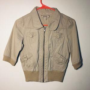 Decree 3/4 Sleeve Zip Front Jacket Size S/CH